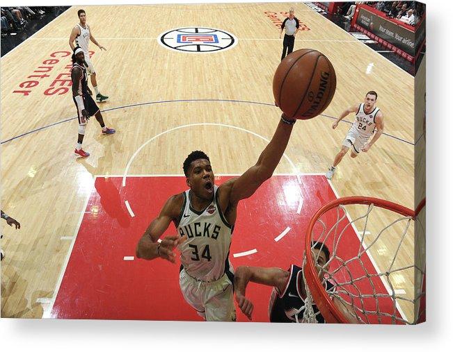 Nba Pro Basketball Acrylic Print featuring the photograph Giannis Antetokounmpo by Adam Pantozzi
