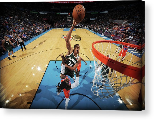 Nba Pro Basketball Acrylic Print featuring the photograph Giannis Antetokounmpo by Bill Baptist