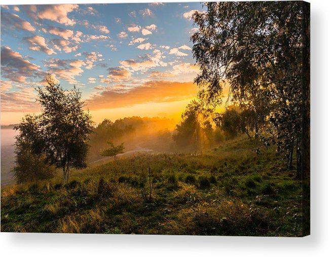 Scenics Acrylic Print featuring the photograph Golden Sunrise by William Mevissen