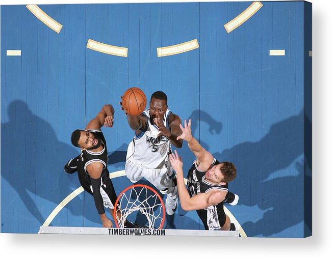 Nba Pro Basketball Acrylic Print featuring the photograph Gorgui Dieng by David Sherman