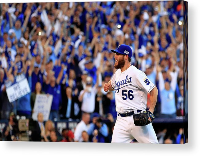 American League Baseball Acrylic Print featuring the photograph Greg Holland by Jamie Squire