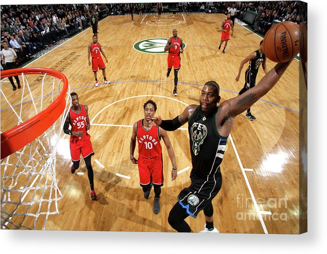 Playoffs Acrylic Print featuring the photograph Greg Monroe by Gary Dineen