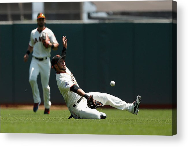 San Francisco Acrylic Print featuring the photograph Gregor Blanco and Billy Burns by Lachlan Cunningham