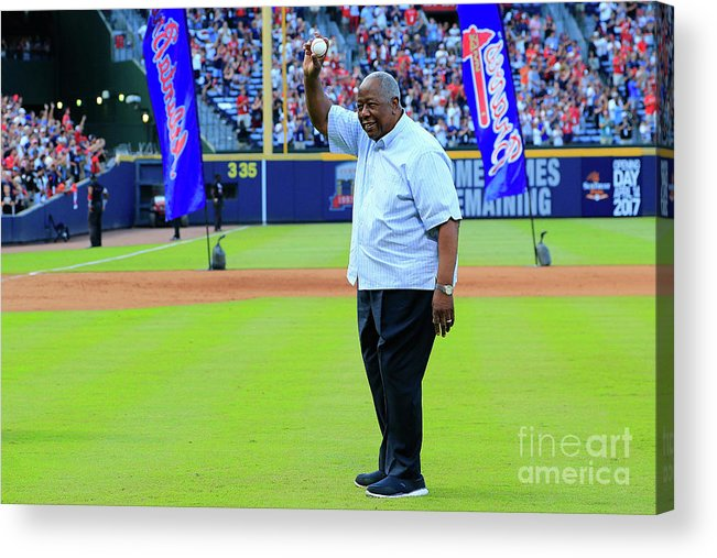 Atlanta Acrylic Print featuring the photograph Hank Aaron by Daniel Shirey