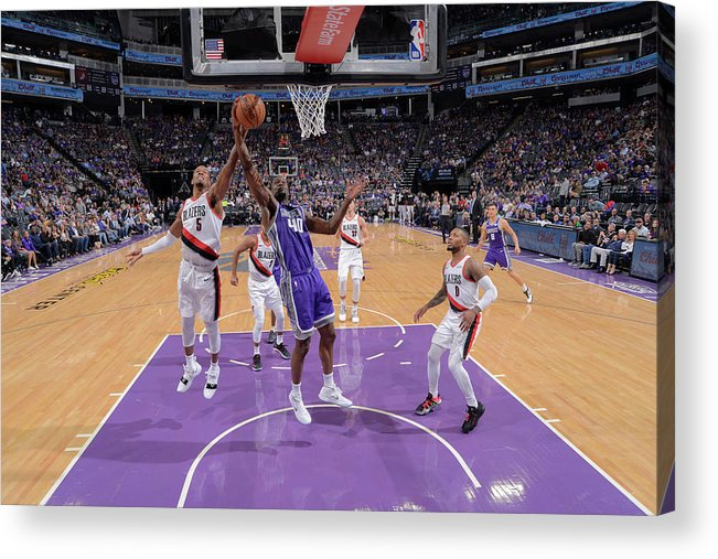 Nba Pro Basketball Acrylic Print featuring the photograph Harrison Barnes and Rodney Hood by Rocky Widner