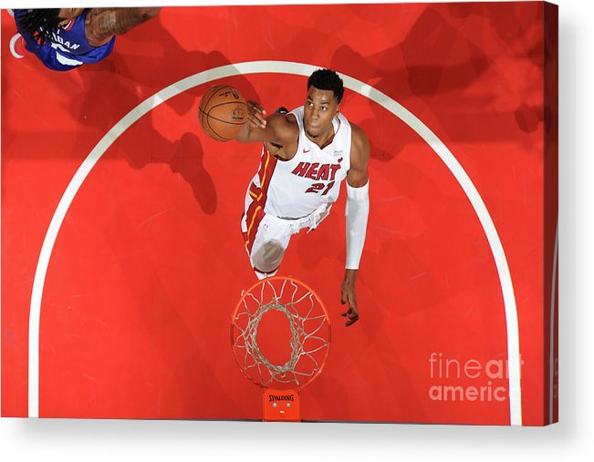 Nba Pro Basketball Acrylic Print featuring the photograph Hassan Whiteside by Andrew D. Bernstein