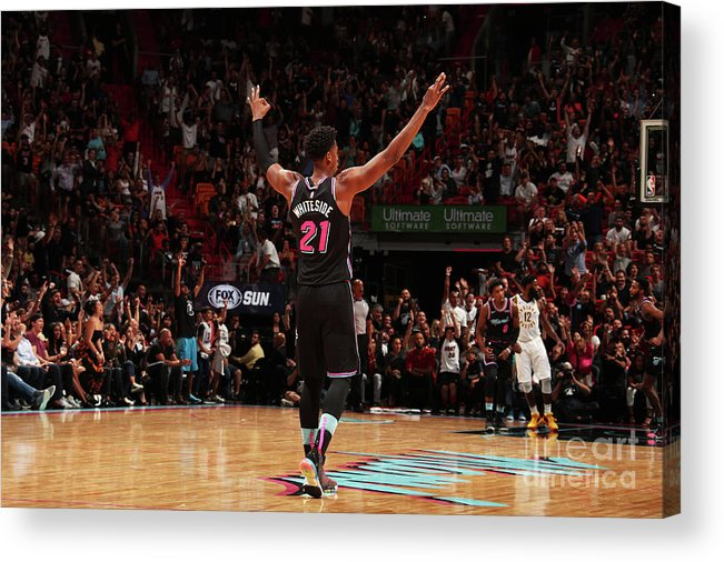 Nba Pro Basketball Acrylic Print featuring the photograph Hassan Whiteside by Issac Baldizon