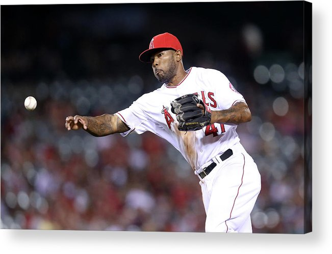 Ninth Inning Acrylic Print featuring the photograph Howie Kendrick by Stephen Dunn