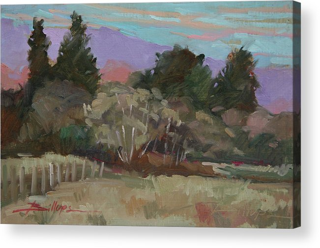 Northern California Acrylic Print featuring the painting Humbolt Fields by Betty Jean Billups