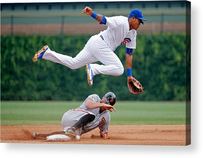 People Acrylic Print featuring the photograph Hunter Pence and Addison Russell by Jon Durr