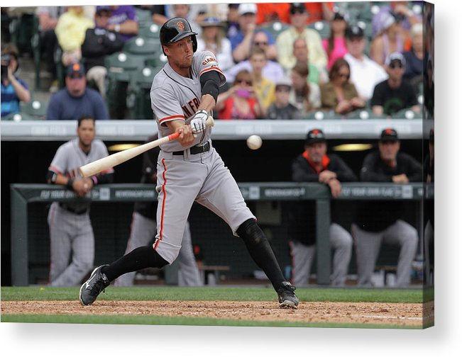 National League Baseball Acrylic Print featuring the photograph Hunter Pence by Doug Pensinger