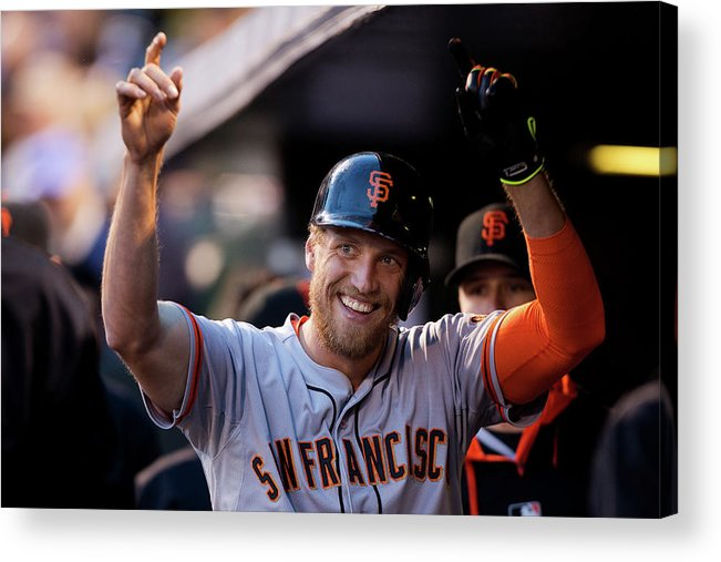 Celebration Acrylic Print featuring the photograph Hunter Pence by Justin Edmonds
