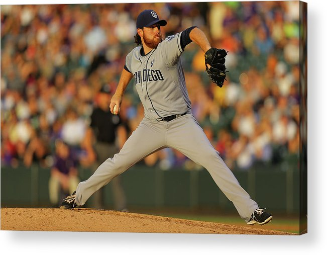 Home Base Acrylic Print featuring the photograph Ian Kennedy by Justin Edmonds