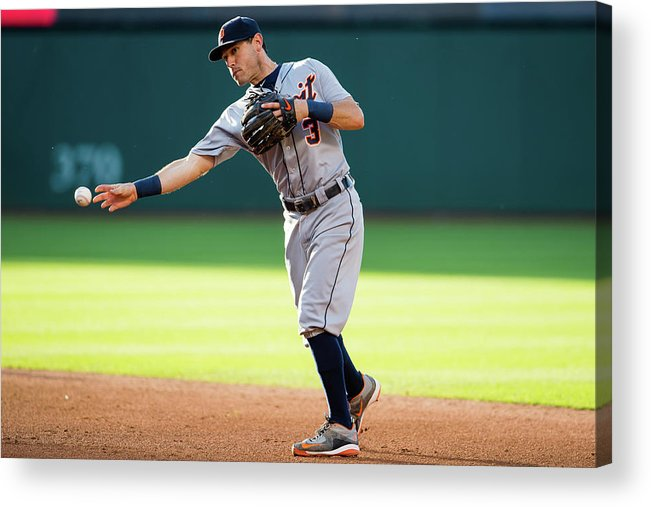 Second Inning Acrylic Print featuring the photograph Ian Kinsler by Jason Miller