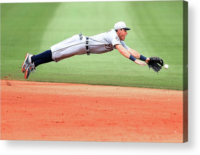 People Acrylic Print featuring the photograph Ian Kinsler by Stacy Revere