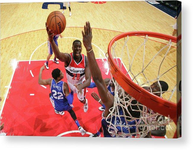 Nba Pro Basketball Acrylic Print featuring the photograph Ian Mahinmi by Ned Dishman