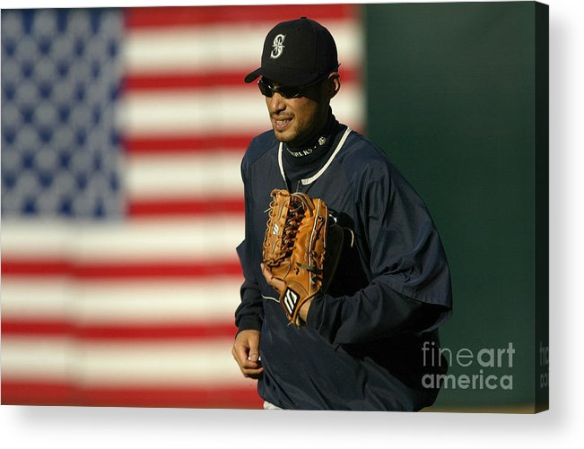 People Acrylic Print featuring the photograph Ichiro Suzuki by Stephen Dunn