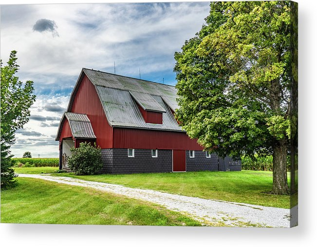Landscape Acrylic Print featuring the photograph Indiana Barn #126 by Scott Smith