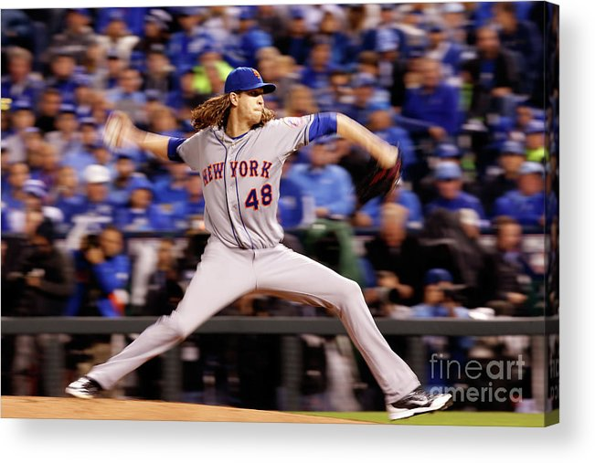 Jacob Degrom Acrylic Print featuring the photograph Jacob Degrom by Christian Petersen