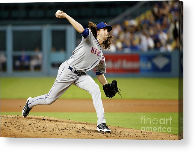 Jacob Degrom Acrylic Print featuring the photograph Jacob Degrom by Sean M. Haffey