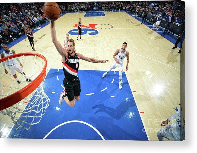 Nba Pro Basketball Acrylic Print featuring the photograph Jake Layman by Jesse D. Garrabrant