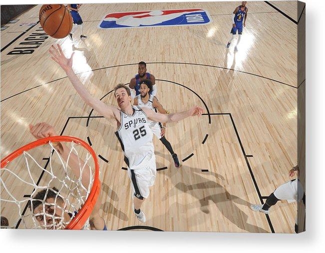 Nba Pro Basketball Acrylic Print featuring the photograph Jakob Poeltl by Garrett Ellwood