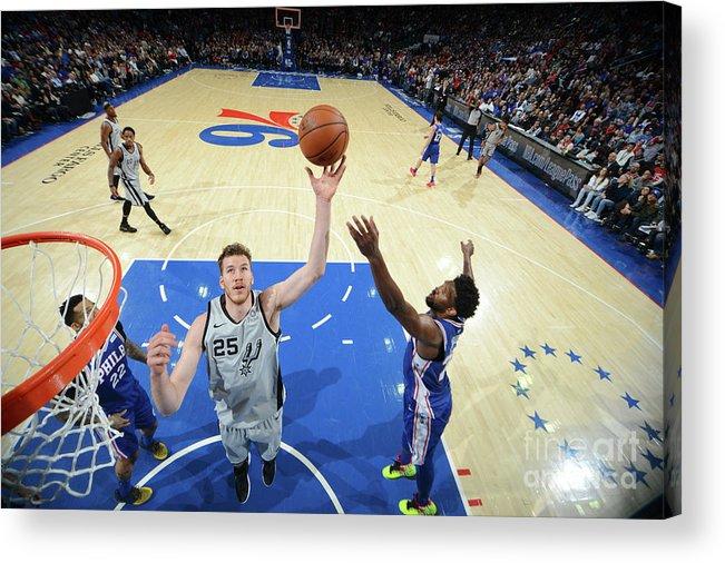Nba Pro Basketball Acrylic Print featuring the photograph Jakob Poeltl by Jesse D. Garrabrant