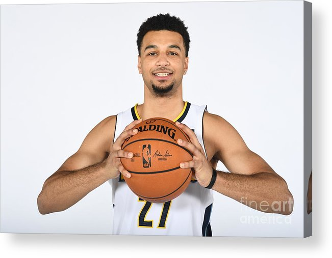 Media Day Acrylic Print featuring the photograph Jamal Murray by Garrett Ellwood