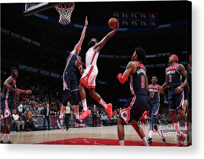 Nba Pro Basketball Acrylic Print featuring the photograph James Harden by Ned Dishman