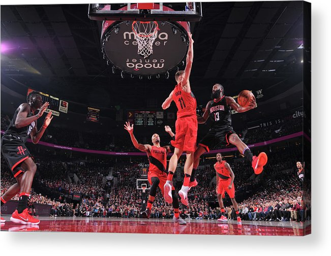 Nba Pro Basketball Acrylic Print featuring the photograph James Harden by Sam Forencich
