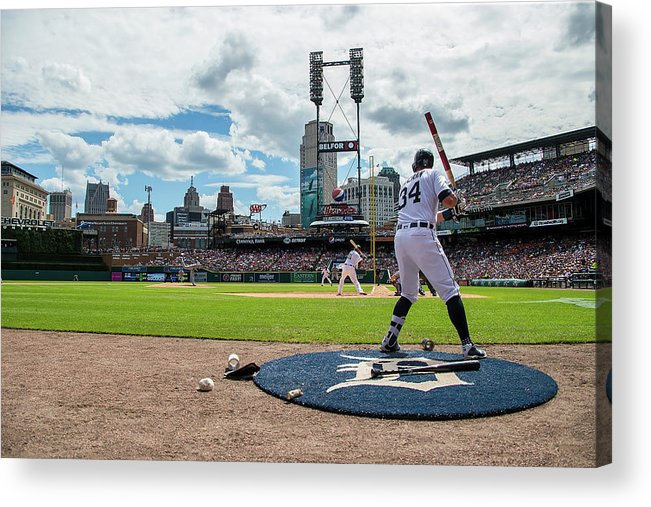 American League Baseball Acrylic Print featuring the photograph James Mccann by Dave Reginek