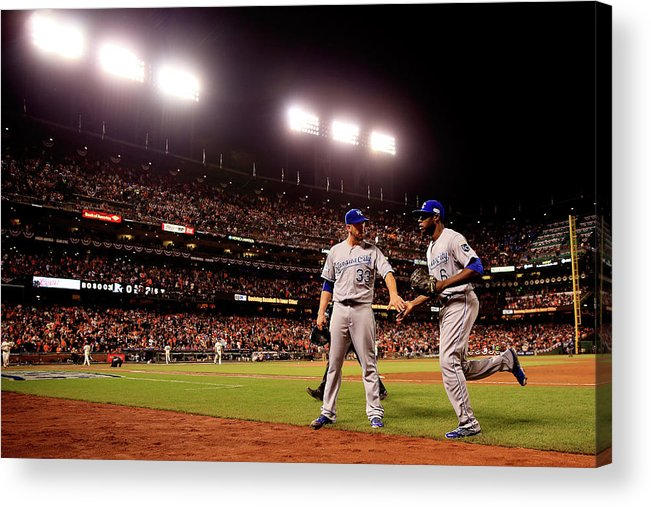 San Francisco Acrylic Print featuring the photograph James Shields And Lorenzo Cain by Rob Carr