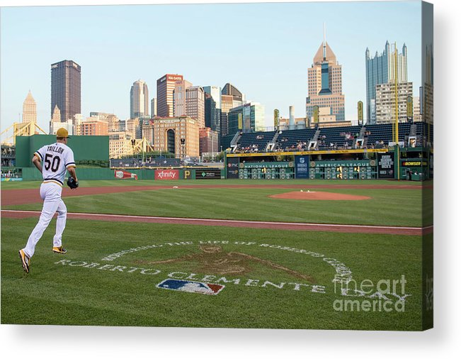 People Acrylic Print featuring the photograph Jameson Taillon and Roberto Clemente by Justin Berl