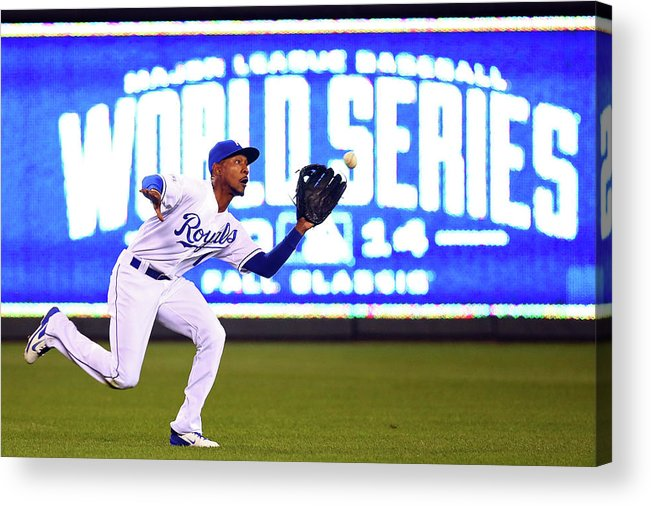 Game Two Acrylic Print featuring the photograph Jarrod Dyson by Dilip Vishwanat