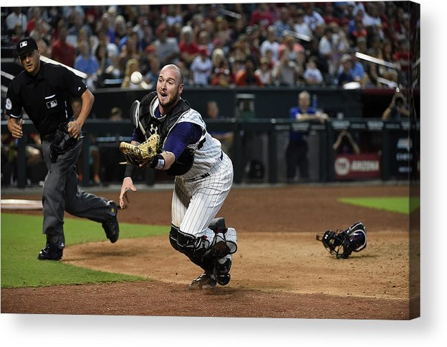 People Acrylic Print featuring the photograph Jarrod Saltalamacchia by Norm Hall