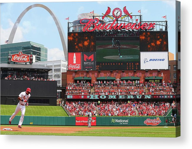 St. Louis Cardinals Acrylic Print featuring the photograph Jason Heyward by Dilip Vishwanat