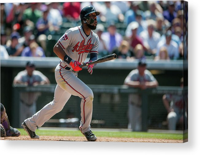 Toughness Acrylic Print featuring the photograph Jason Heyward by Dustin Bradford