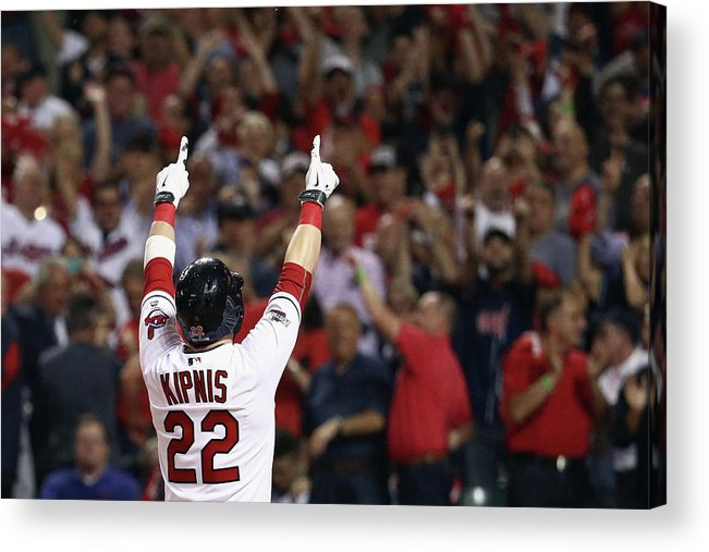 American League Baseball Acrylic Print featuring the photograph Jason Kipnis by Maddie Meyer