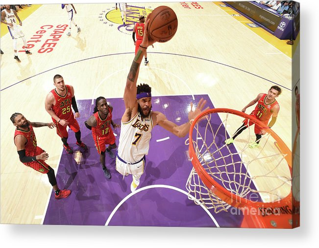 Nba Pro Basketball Acrylic Print featuring the photograph Javale Mcgee by Andrew D. Bernstein