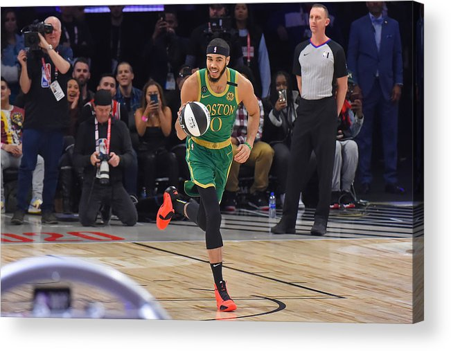 Nba Pro Basketball Acrylic Print featuring the photograph Jayson Tatum by Bill Baptist