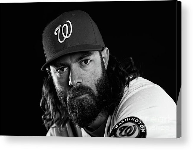 Media Day Acrylic Print featuring the photograph Jayson Werth by Chris Trotman