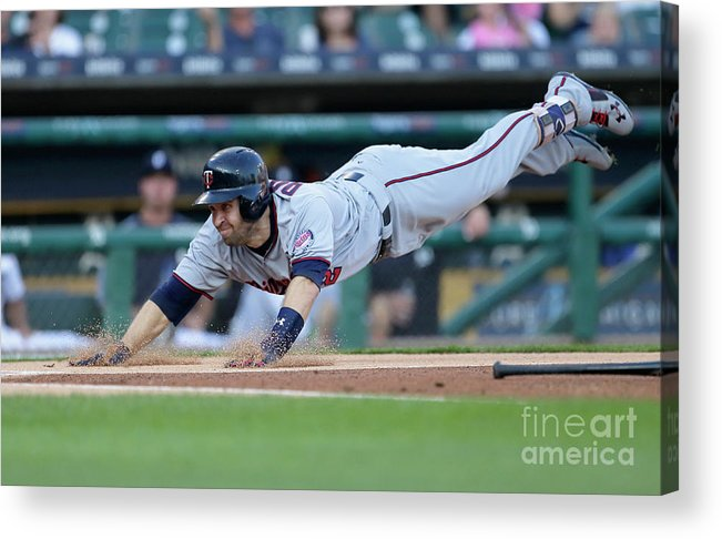 People Acrylic Print featuring the photograph Jeimer Candelario and Brian Dozier by Duane Burleson