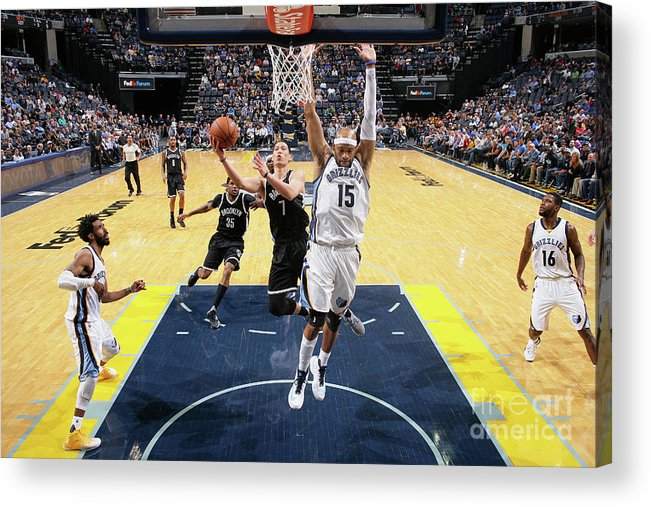 Nba Pro Basketball Acrylic Print featuring the photograph Jeremy Lin by Joe Murphy