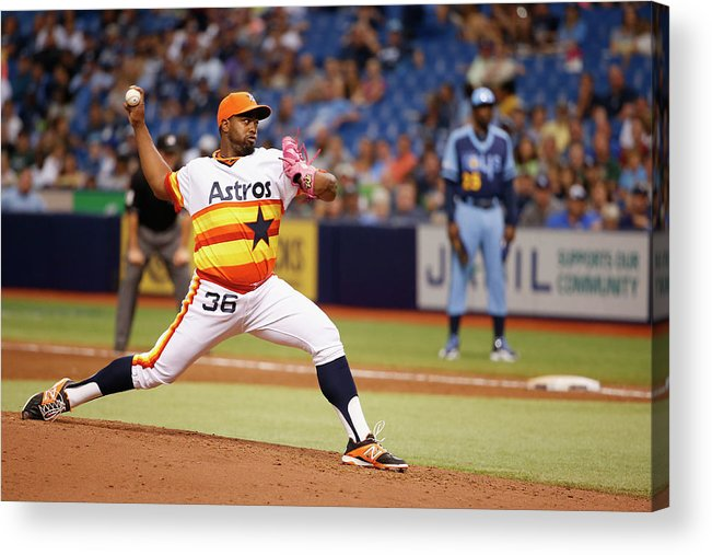 American League Baseball Acrylic Print featuring the photograph Jerome Williams by Scott Iskowitz