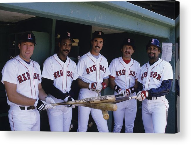 1980-1989 Acrylic Print featuring the photograph Jim Rice by Ronald C. Modra/sports Imagery