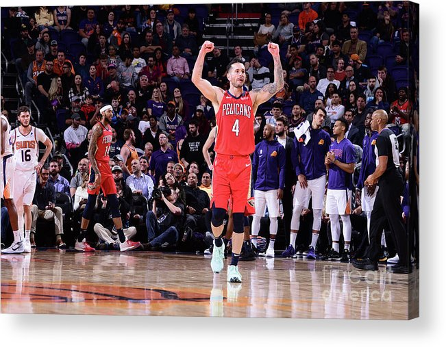 Nba Pro Basketball Acrylic Print featuring the photograph J.j. Redick by Michael Gonzales