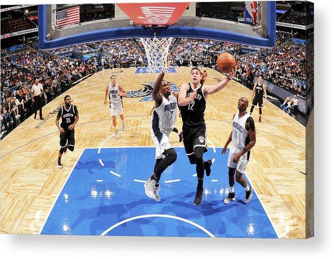 Nba Pro Basketball Acrylic Print featuring the photograph Joe Harris by Fernando Medina