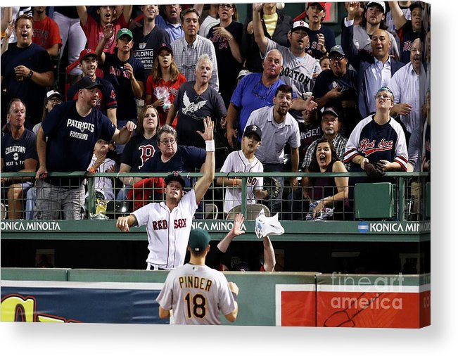 People Acrylic Print featuring the photograph Joe Kelly and Jackie Bradley by Maddie Meyer