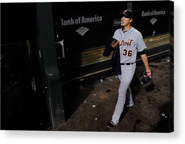 American League Baseball Acrylic Print featuring the photograph Joe Nathan by Patrick Mcdermott
