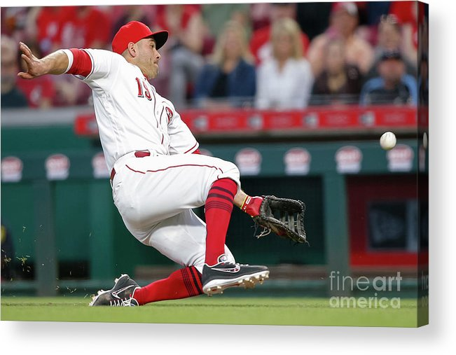 Great American Ball Park Acrylic Print featuring the photograph Joey Votto by Michael Hickey